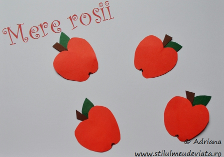 mere rosii din hartie caronata
