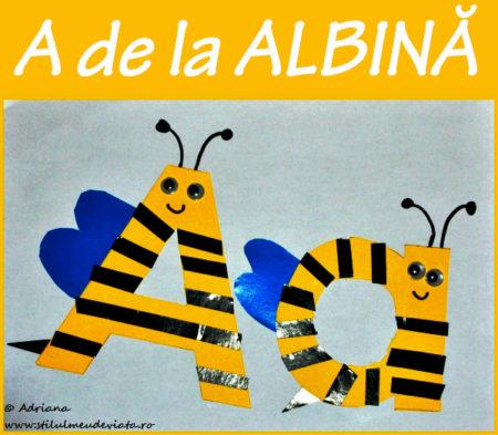 litera A de la ALBINĂ - activitate practică