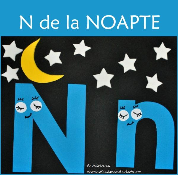 Litera N de la NOAPTE-colaj