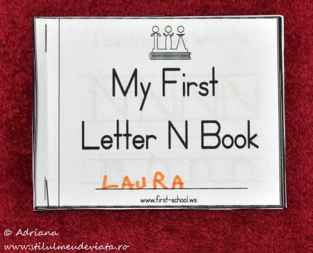 My First Letter N Book