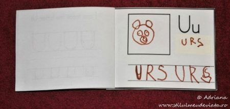 My First Letter U Book