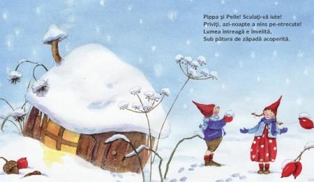 Pippa & Pelle - o zi de iarna, pagina din interiorul cartii