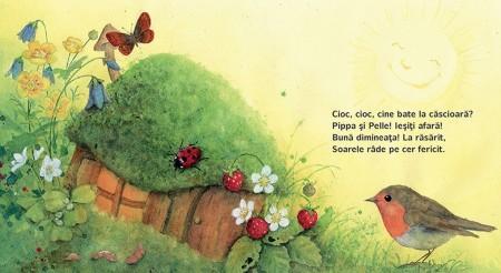 Pippa & Pelle, pagina din interiorul cartii