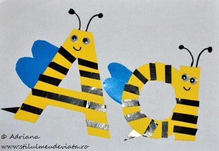 albinuta, literele A si a