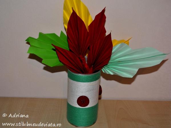buchet de frunze ruginii