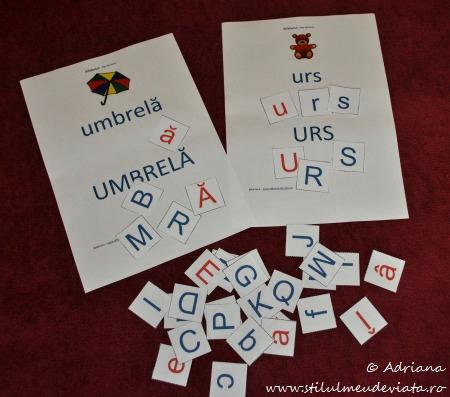 fise de lucru cu literele U si u