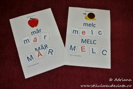 fise si cartonase cu litera M