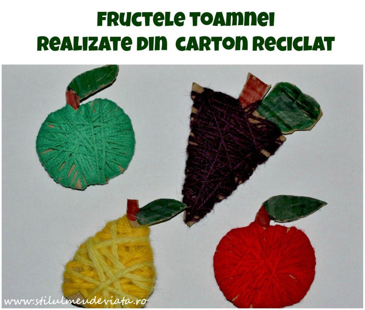 fructele toamnei din carton reciclat