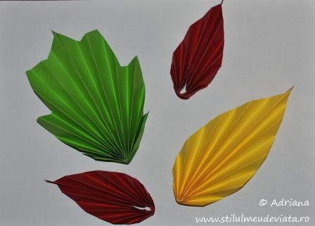 frunze ruginii realizate din hartie colorata