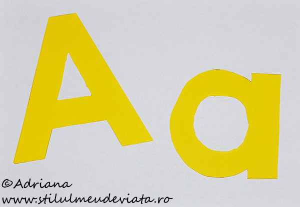 litera A de tipar - șabloane