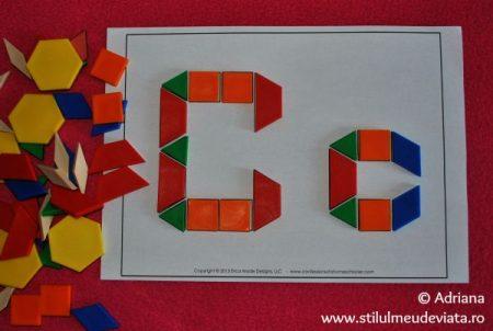 litera C din piese tangram