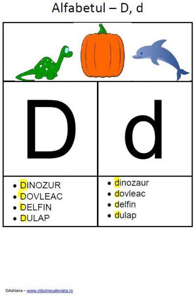litera D - alfabetul ilustrat