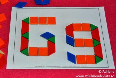 litera G din piese tangram