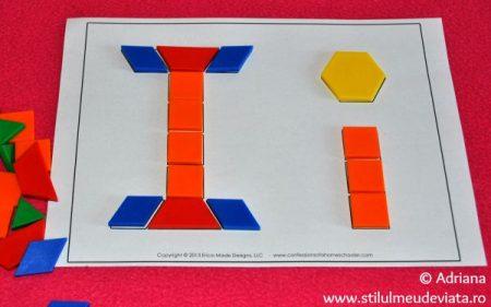 litera I din piese tangram