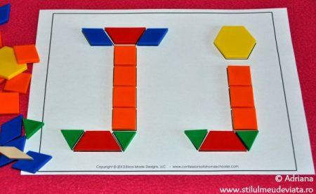 litera J din piese tangram
