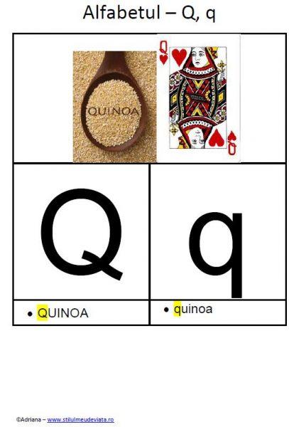 litera Q - alfabetul ilustrat