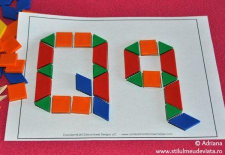 litera Q din piese tangram