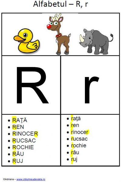 litera R - alfabetul ilustrat