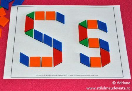 litera S din piese tangram