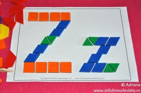 litera Z din piese tangram