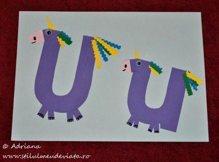 litera u - unicorni