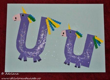 litera u -unicorni