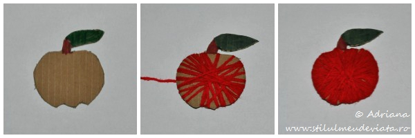 mar rosu realizat din carton reciclat