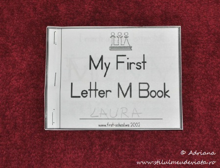 my first letter m book