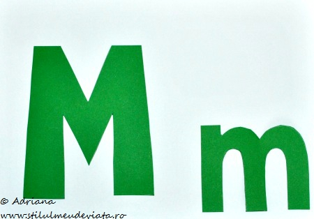 sabloane literele M si m