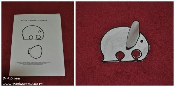 elefant din hartie