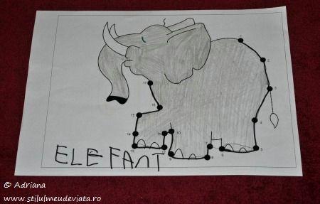 elefant, fisa trasare punct cu punct