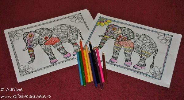elefant, fise de colorat