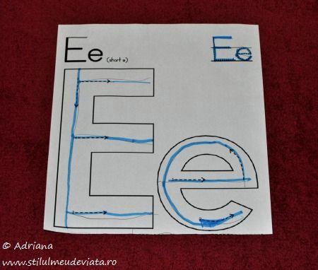 fisa trasare litera E mare si e mic