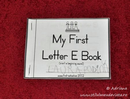 my firts letter e book