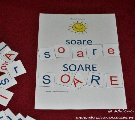 litera S, soare