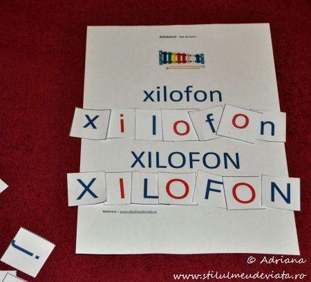 litera X, xilofon