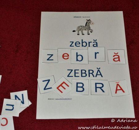 litera Z, zebra