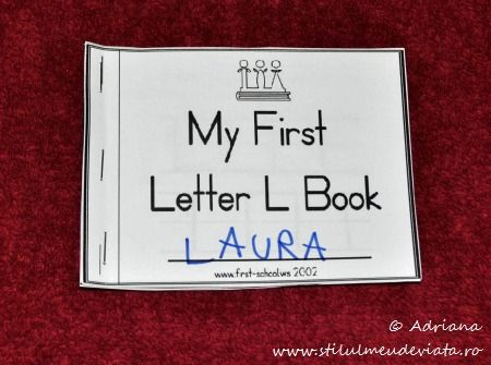 My First Letter L Book
