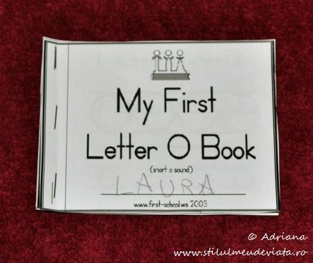 My First Letter O Book