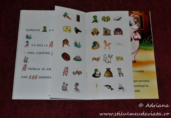 Soricelul mofturos,carte cu abtibilde,editura Gama