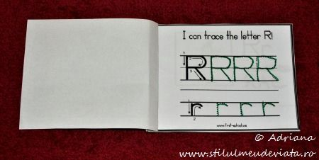 i can trace the letter r