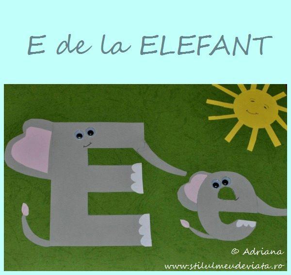 litera E de la ELEFANT
