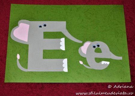 litera E de la elefanti
