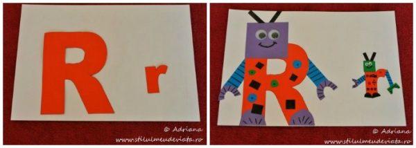 litera R de la ROBOT, colaj