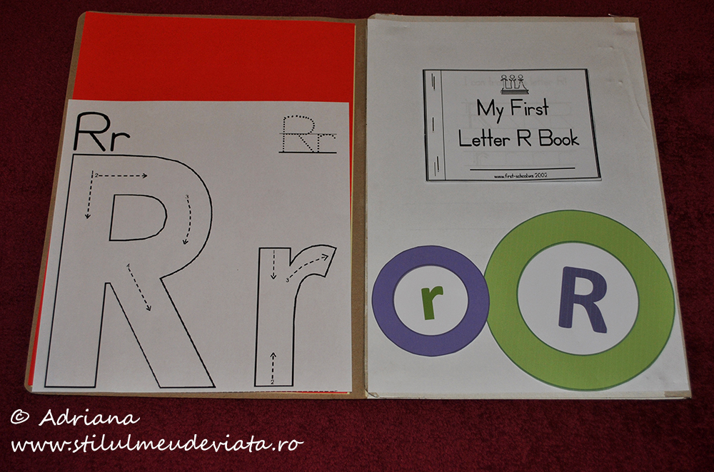 litera r, dosar cu activități