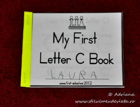 my first letter c book