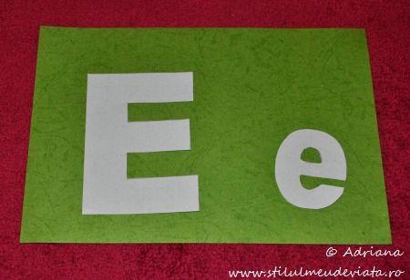 sabloane literele E mare si e mic