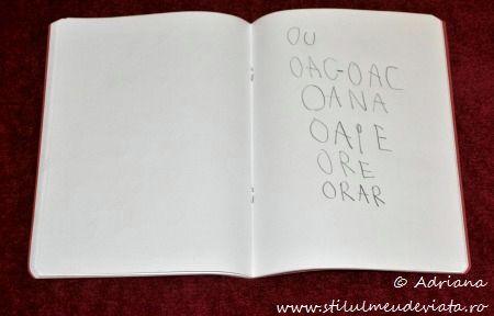 scriem cuvinte care contin litera O