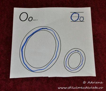 trasare litera O