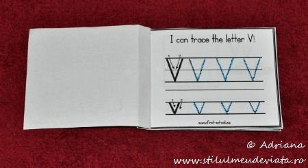 I can trace the letter V!
